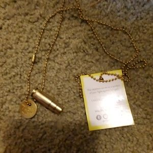 Half united bullet casing necklace